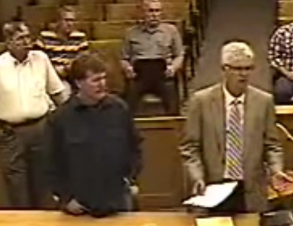 Patrick Cody Mccormick with his attorney David Lockie