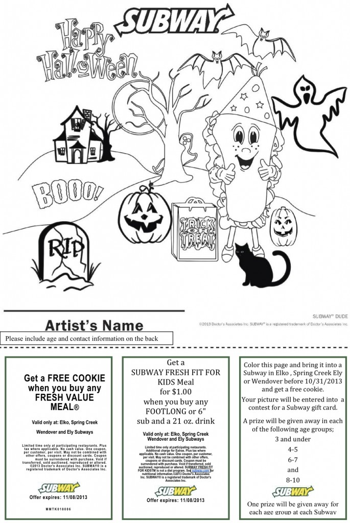 halloween coloring page 2-2