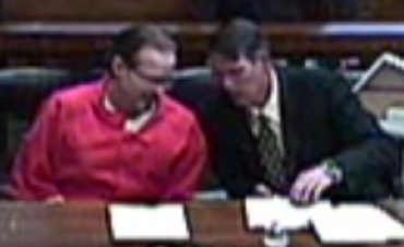 Newcastle with attorney Charles Odges at sentencing.