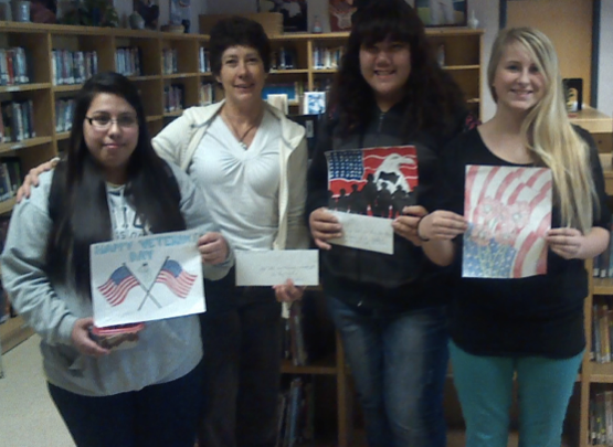 Art teacher Mrs Cheryl Bishop: FIRST Place: Natalie Soriano, SECOND Place: Xena Mayly, THIRD Place: Sami Maddox, honorable mentions; Haily Christensen, Selena Peterson, Cassandra Haro, Leyli Ojeda, Wendy Marquez, Mckenna Bair, Brianna Holloway.