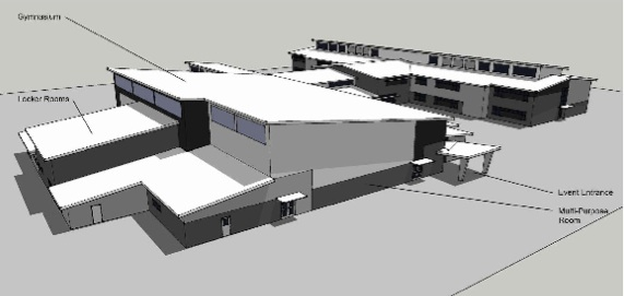 Architect's drawing of new West Wendover elementary school