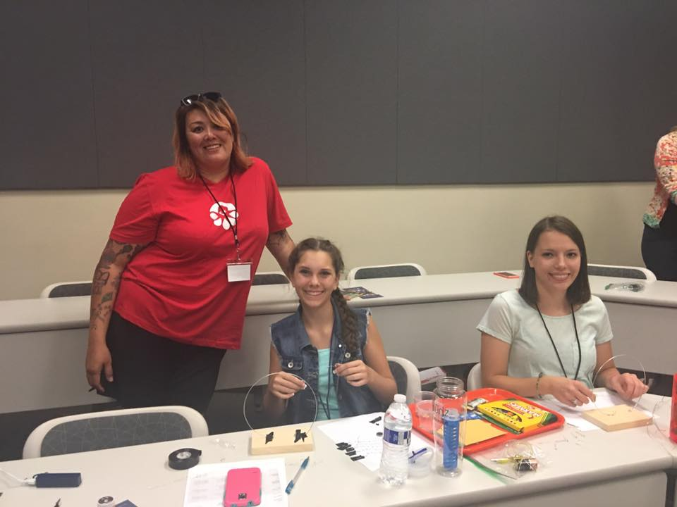 Camp participants pose with a staff member at this year's DigiGirlz camp held at the University of Nevada, Reno's Ansari Business Building Thursday, July 21(and Friday, July 22) (Photos credit DigiGirls)
