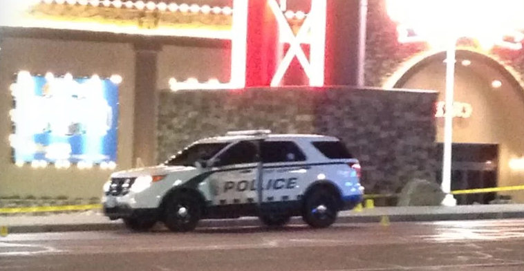 Wendover Police in front of the Rainbow Casino in Wendover.