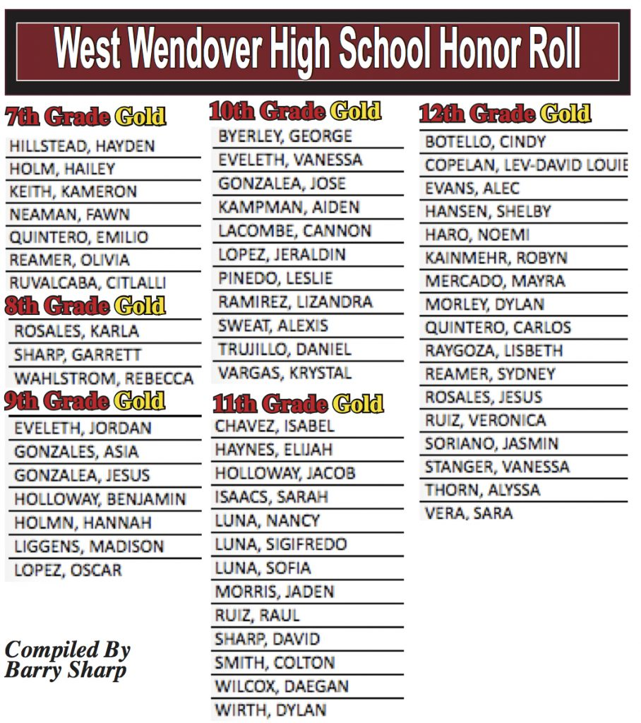 Honor Roll Gold